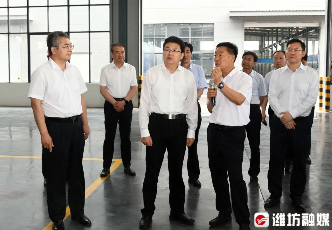 集团|潍坊市委书记田庆盈到华建铝业集团调研