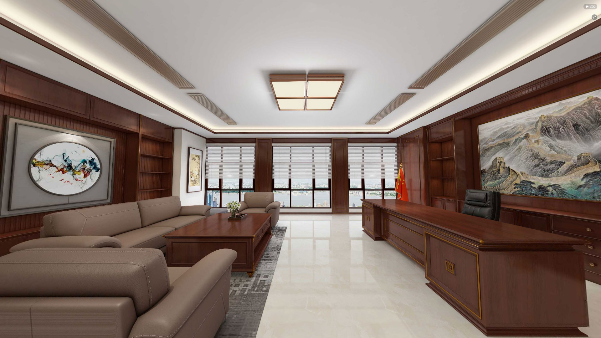 American style office