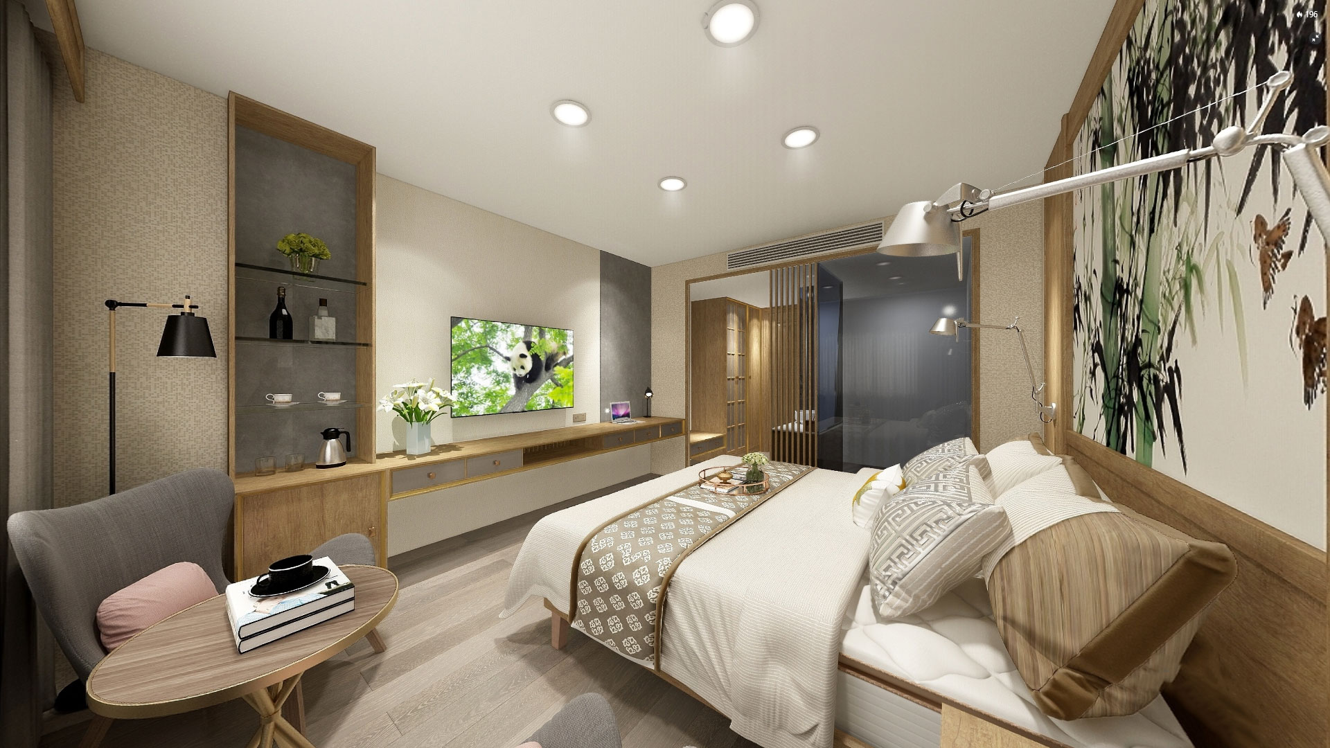 Modern style guest house case B